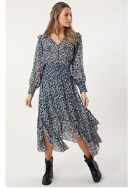 Hale Bob Edna Printed Dress - Blue