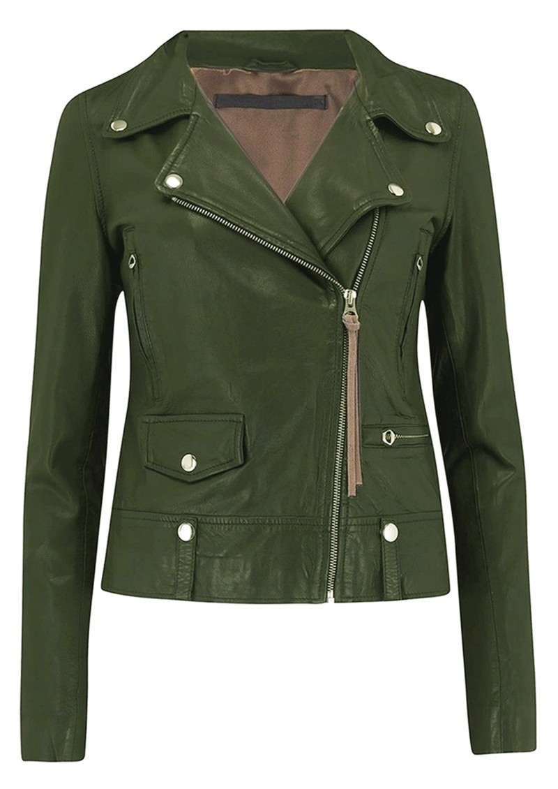 MDK Seattle New Thin Leather Jacket - Four Leaf Clover main image