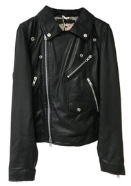 MDK Bronco Thin Leather Jacket - Black