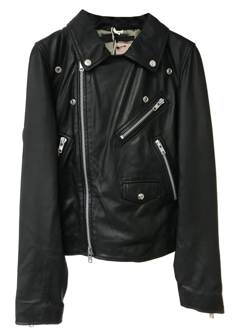 MDK Bronco Thin Leather Jacket - Black main image