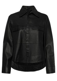 MDK Naomi Thin Leather Shirt - Black
