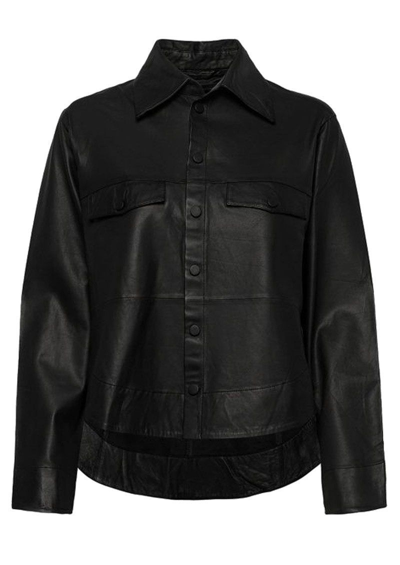 MDK Naomi Thin Leather Shirt - Black main image