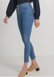 J Brand Lillie High Rise Photo Ready Crop Skinny Jeans - Vivacious
