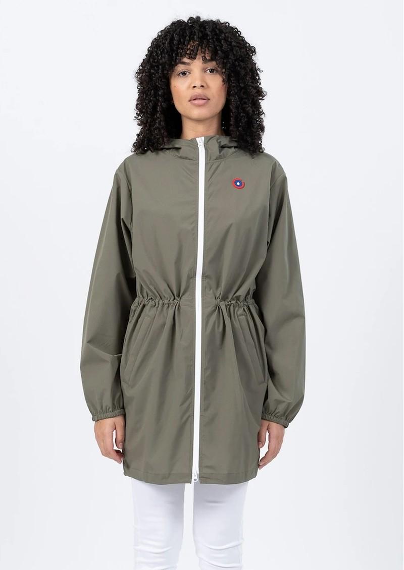 FLOTTE Amelot Sustainable Waterproof Raincoat - Khaki main image