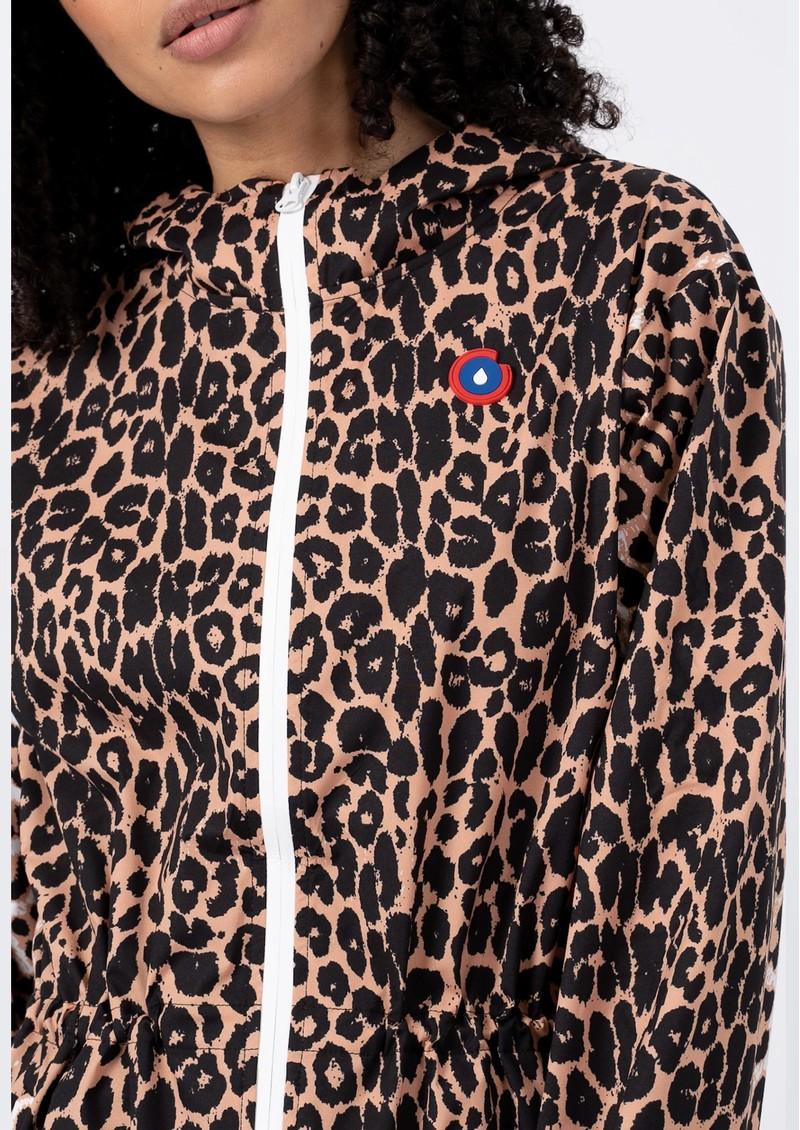 FLOTTE Amelot Sustainable Waterproof Raincoat - Leopard  main image
