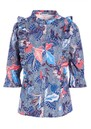 Astrid Printed Blouse - Native Blue  additional image