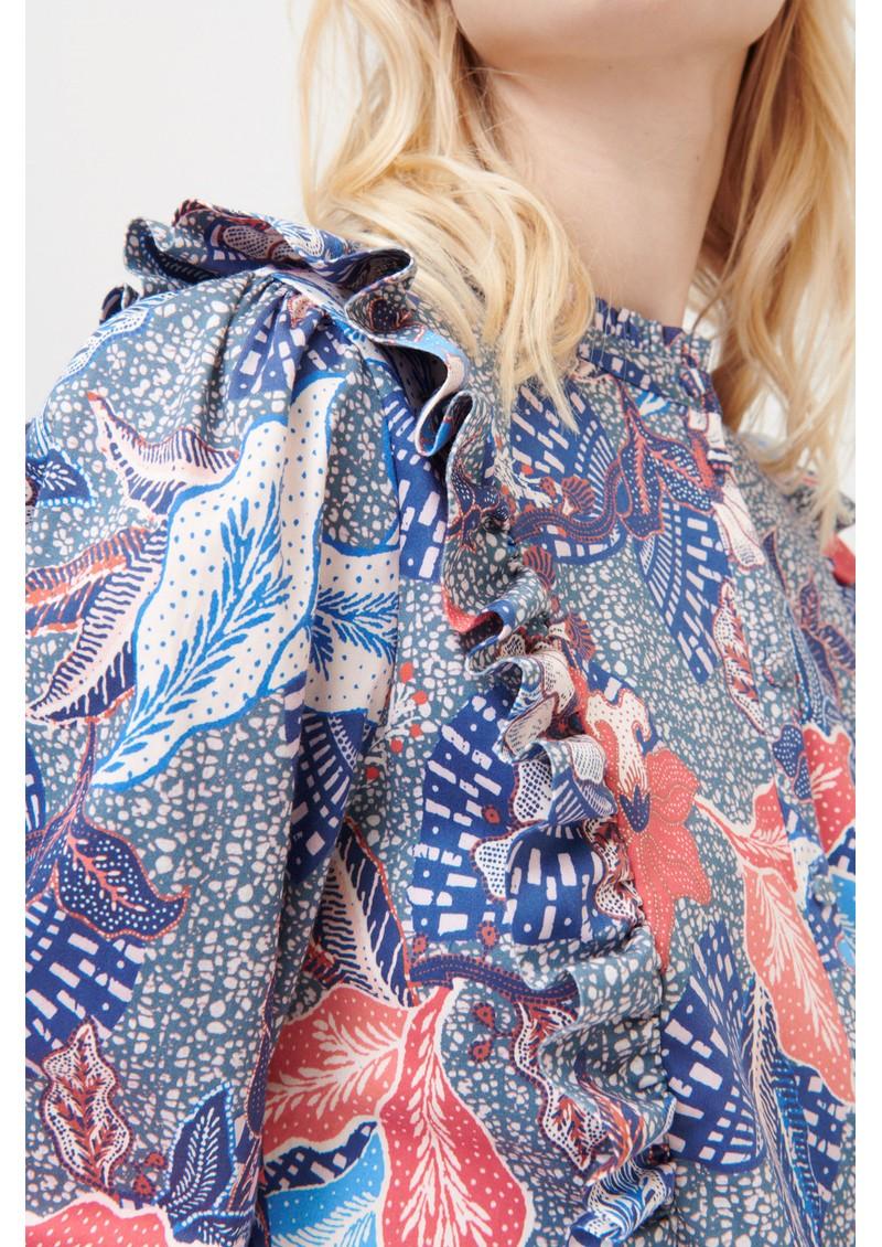 DEA KUDIBAL Astrid Printed Blouse - Native Blue  main image