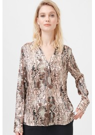 DEA KUDIBAL Santena Silk Blouse - Snake Rose