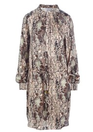 DEA KUDIBAL Aura Silk Dress - Snake Rose