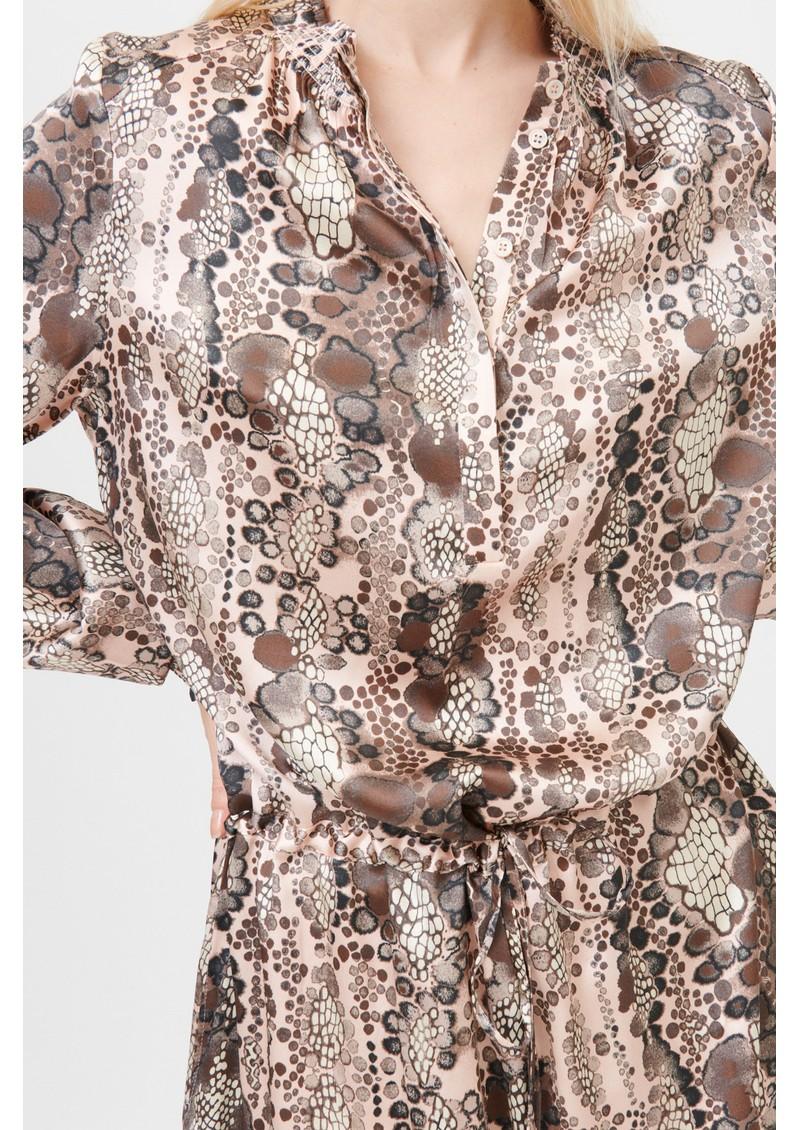 DEA KUDIBAL Aura Silk Dress - Snake Rose main image