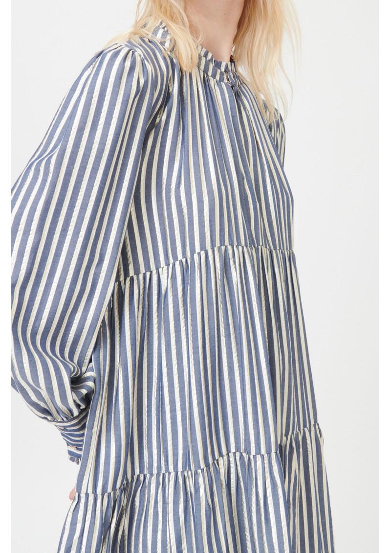 DEA KUDIBAL Kira Ns Dress - Gold Stripe main image