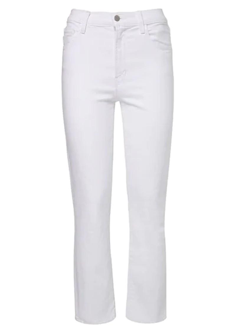 J Brand Alma High Rise Straight Leg Jean - Blanc main image