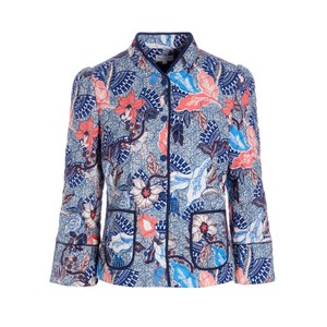 Rosy Printed Jacket - Native Blue