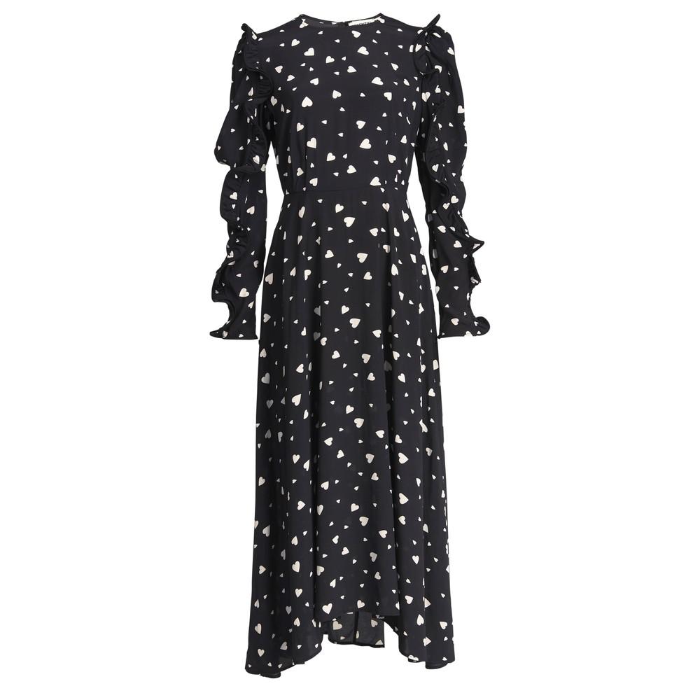Zangle Heart Printed Maxi Dress - Combo 1 Black