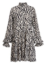 ESSENTIEL ANTWERP Zoku Zebra Printed Dress - Combo 1 Black