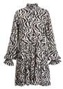 Zoku Zebra Printed Dress - Combo 1 Black  additional image