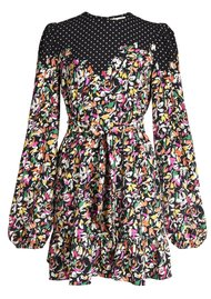 ESSENTIEL ANTWERP Zolives Floral & Polka Dot Printed Dress - Combo 1 Black