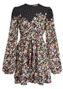 Zolives Floral & Polka Dot Printed Dress - Combo 1 Black additional image