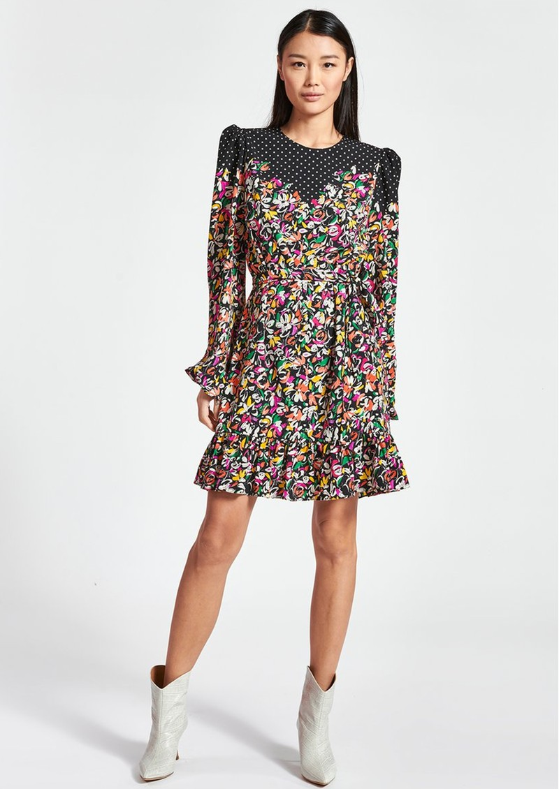 ESSENTIEL ANTWERP Zolives Floral & Polka Dot Printed Dress - Combo 1 Black main image