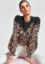 Zucculent Floral & Polka Dot Printed Top - Combo1 Black additional image