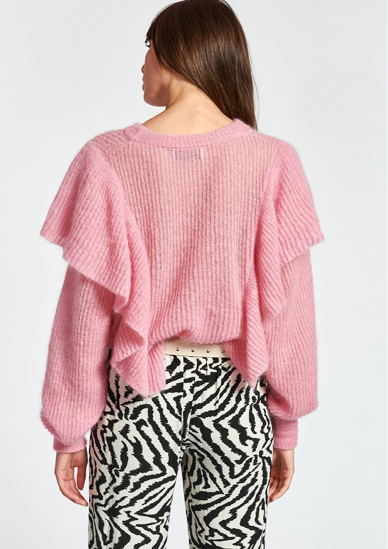 ESSENTIEL ANTWERP Zom Zom Mohair Mix Ruffle Pullover - Fairy Tale  main image
