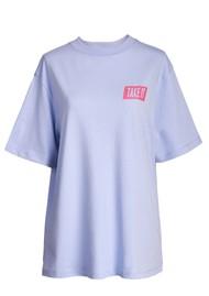 ESSENTIEL ANTWERP Zologne Slogan Organic Cotton T-shirt - Halogen