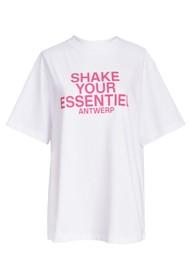 ESSENTIEL ANTWERP Zologne Slogan T-shirt - White
