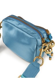ESSENTIEL ANTWERP Zamster Cross Body Bag - Denim Metallic Blue