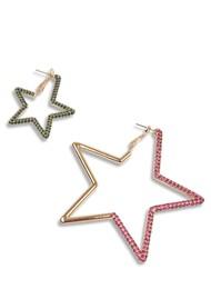 ESSENTIEL ANTWERP Zortago Star Earrings - Combo1 Pink