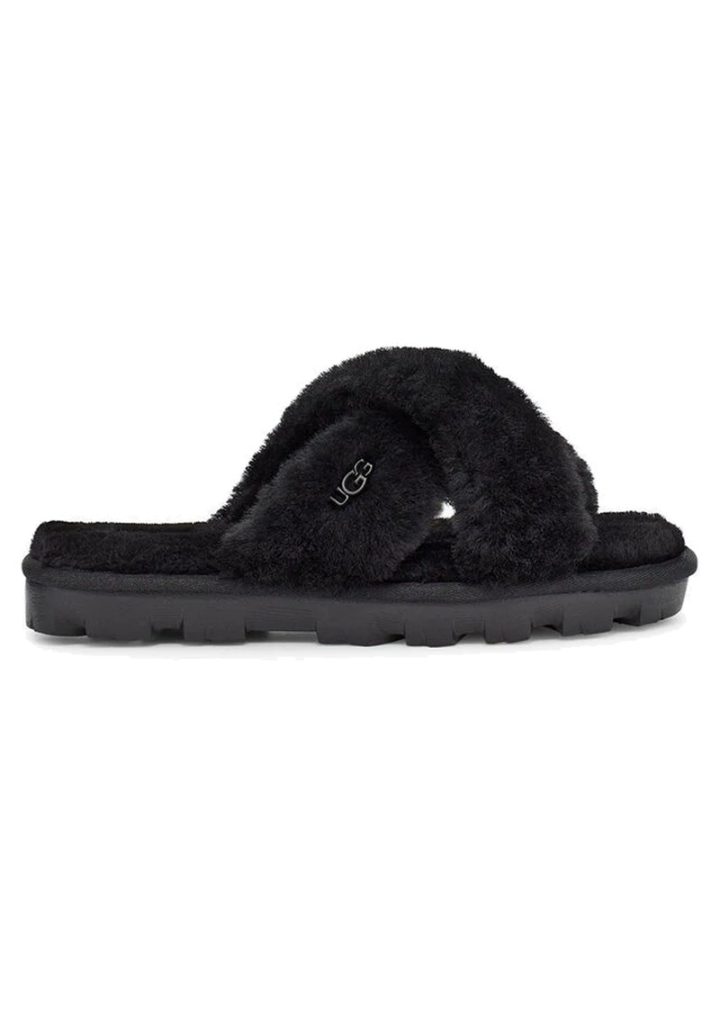 UGG Fuzzette Sheepskin Slidders - Black main image