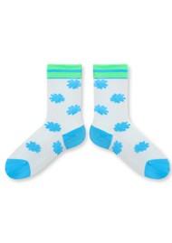 ESSENTIEL ANTWERP Zadilla Patterned Socks - Icelandic Blue
