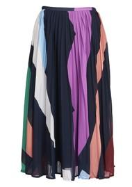 ESSENTIEL ANTWERP Zalerie Pleated Midi Skirt - Parisian Night