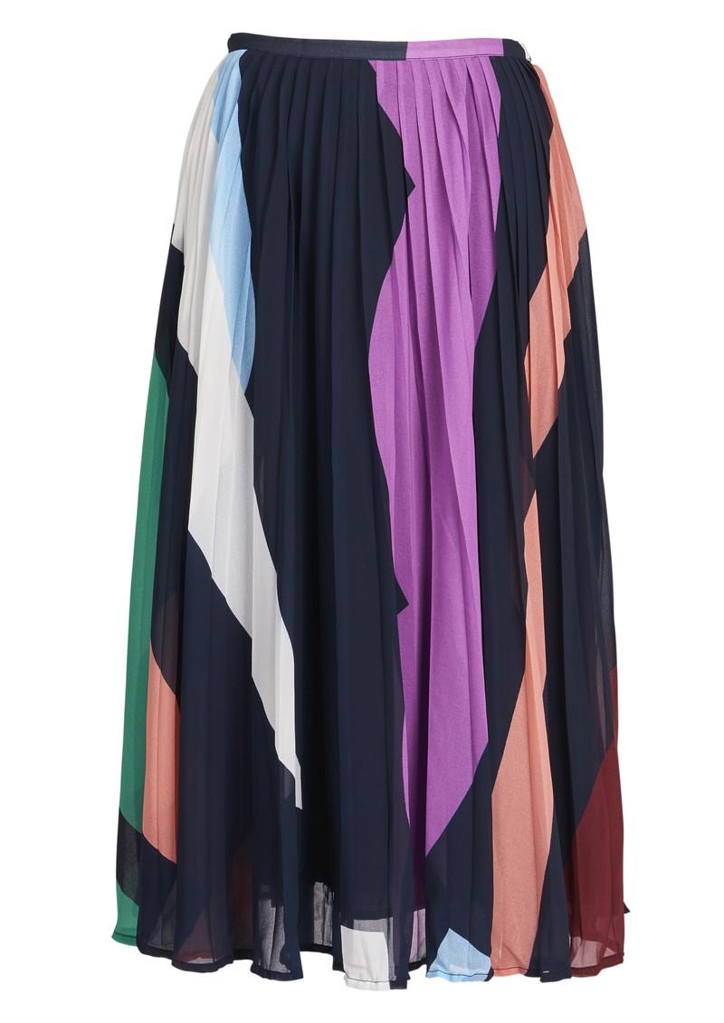 ESSENTIEL ANTWERP Zalerie Pleated Midi Skirt - Parisian Night main image