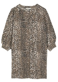 RAGDOLL Super Oversized Sweatshirt - Brown Leopard