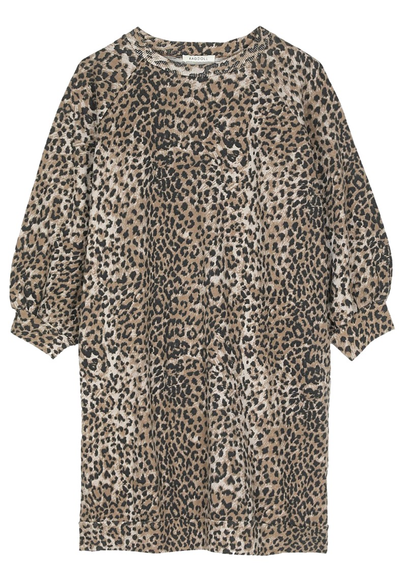 RAGDOLL Super Oversized Sweatshirt - Brown Leopard main image