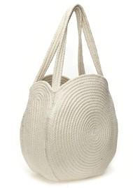 FABIENNE CHAPOT Summer Circular Basket Bag - Cream & Pistachio
