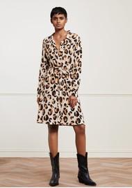 FABIENNE CHAPOT Dorien Leopard Dress - Oatmeal & Chocolate