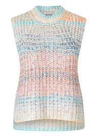 SECOND FEMALE Elsa Knitted Vest - Brunnera Blue