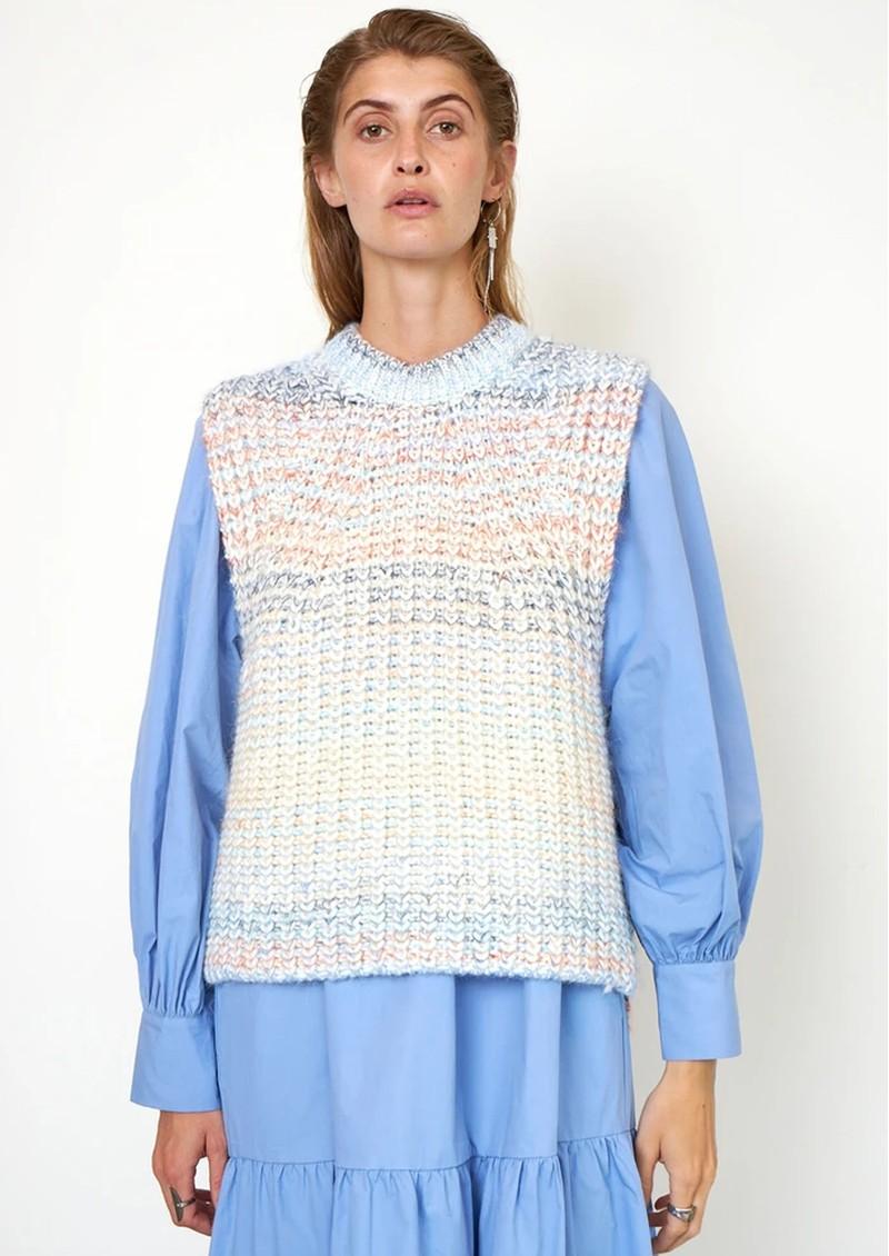 SECOND FEMALE Elsa Knitted Vest - Brunnera Blue main image