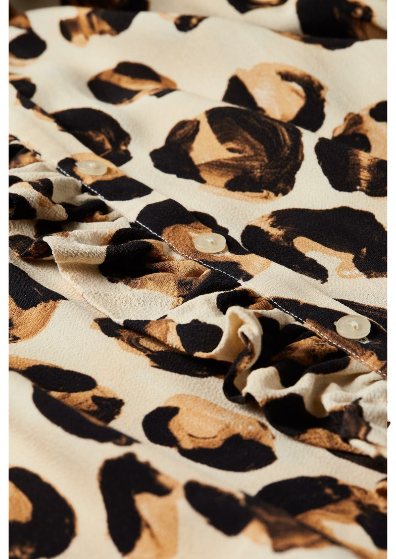 FABIENNE CHAPOT Leo Frill Blouse - Oatmeal & Chocolate main image