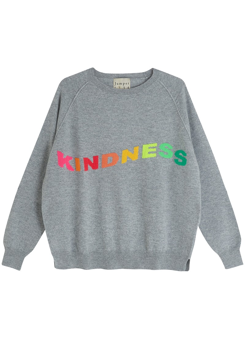 JUMPER 1234 Kindness Cashmere Sweater - Lava main image