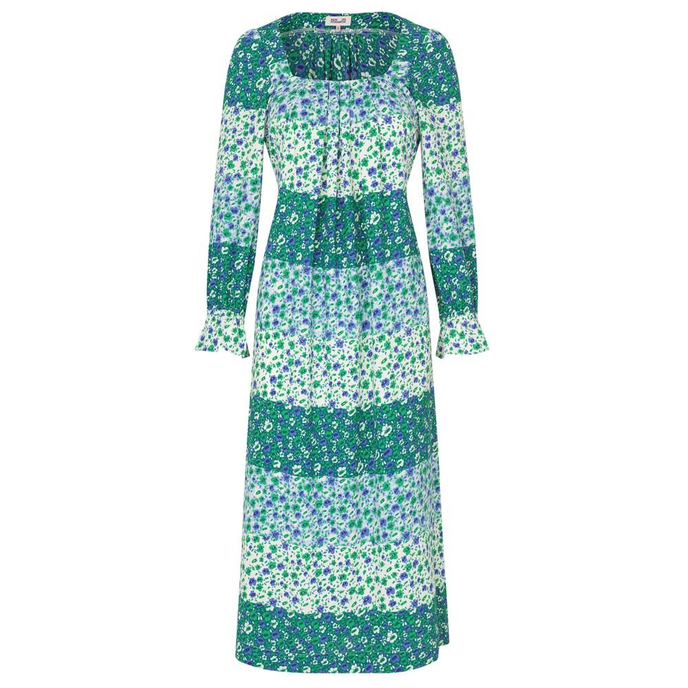 Asayo Dress - Green Ditzy