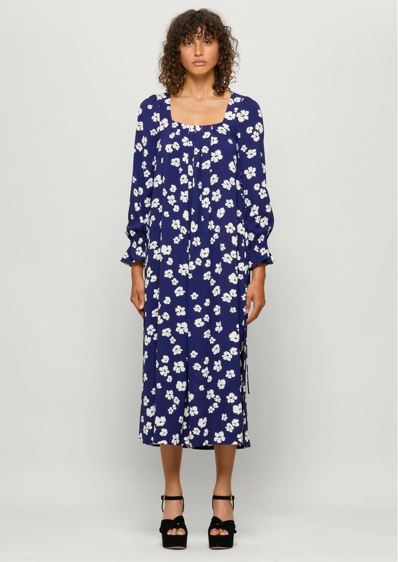 BAUM UND PFERDGARTEN Asayo Dress - Blue Floral main image
