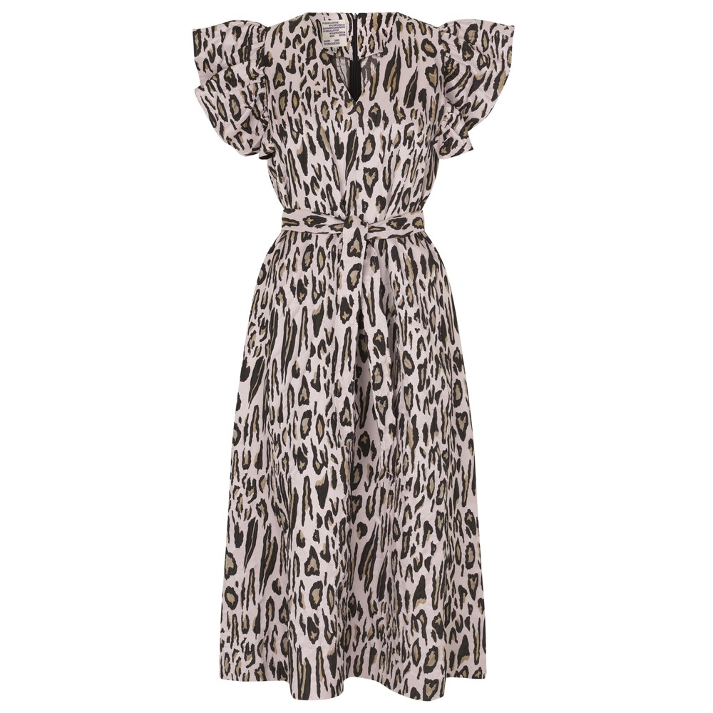 Addison Dress - Primrose Leopard