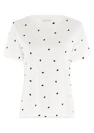 FABIENNE CHAPOT Phil Heart Embroidered T-Shirt - Cream White