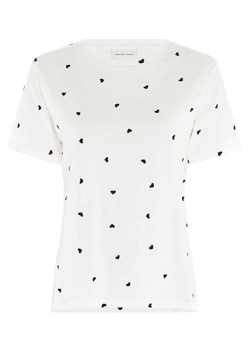 FABIENNE CHAPOT Phil Heart Embroidered T-Shirt - Cream White main image