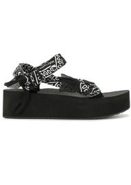 ARIZONA LOVE Trekky Platform Sandals - Black Bandana