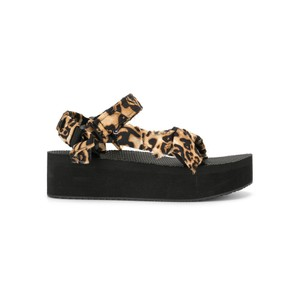 Trekky Platform Sandals - Leopard Satin