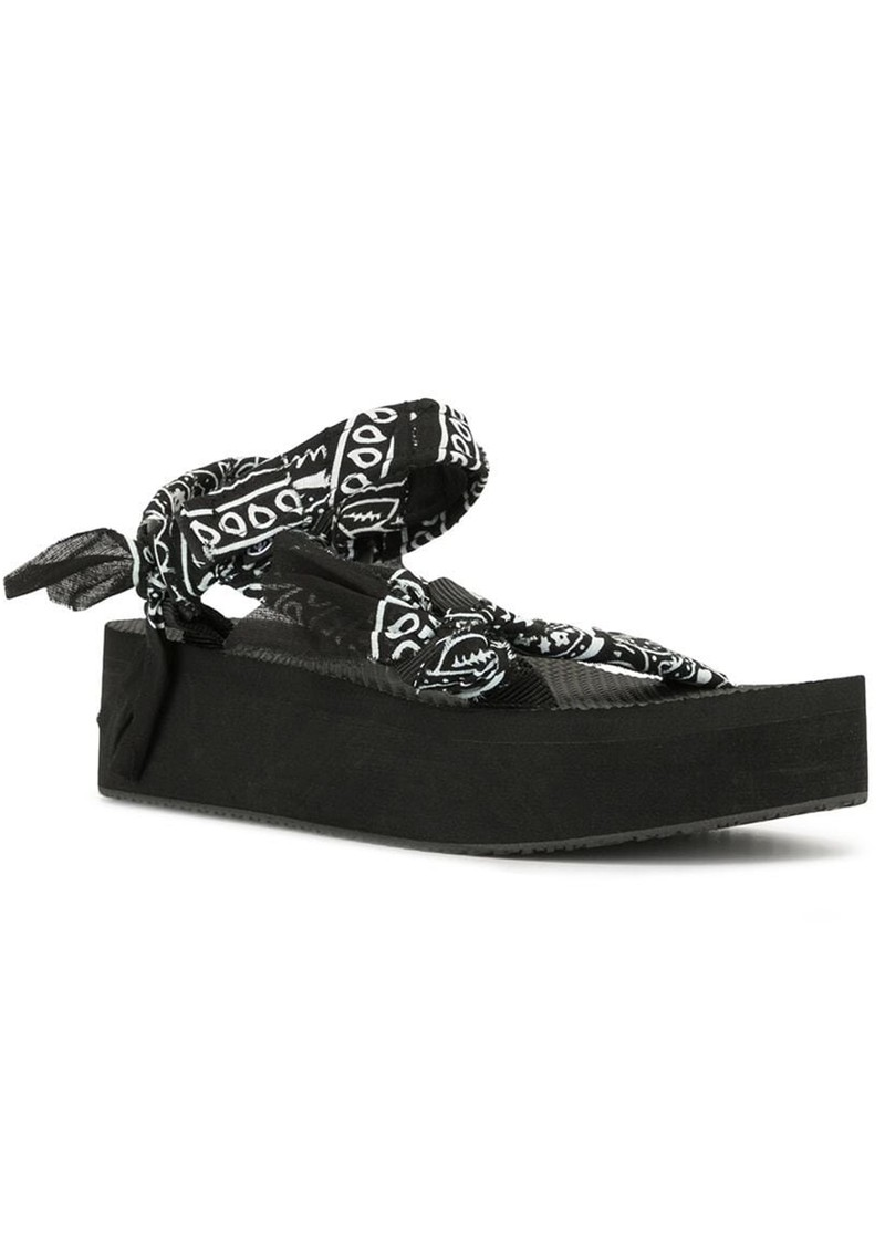 ARIZONA LOVE Trekky Platform Sandals - Black Bandana main image