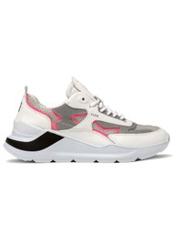 D.A.T.E Fuga Running Trainer - White & Fuschia